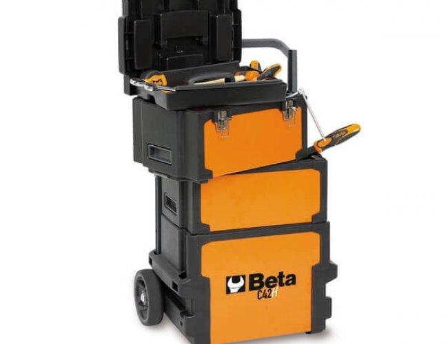 Mala de ferramentas tipo trolley com 3 módulos c42h- Beta
