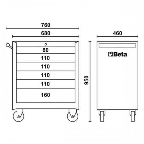 Carro de ferramentas -2400E-C04BOX